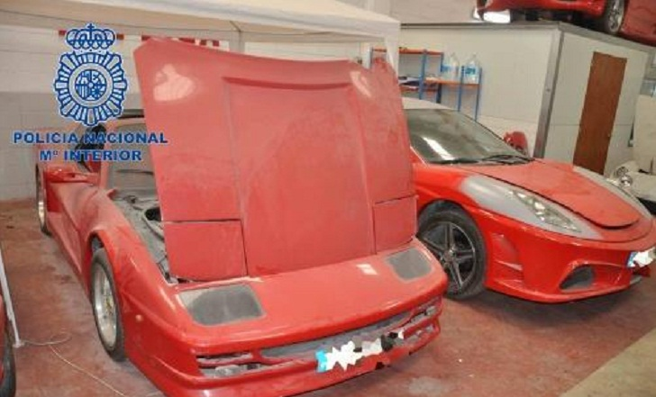 Spanish gang held for transforming old Toyotas into fake Ferraris