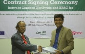 Concern Worldwide, Brac sign agreement to improve nutritional status of urban poor