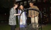 Sculpture exhibition held at British High Commissioner's residence