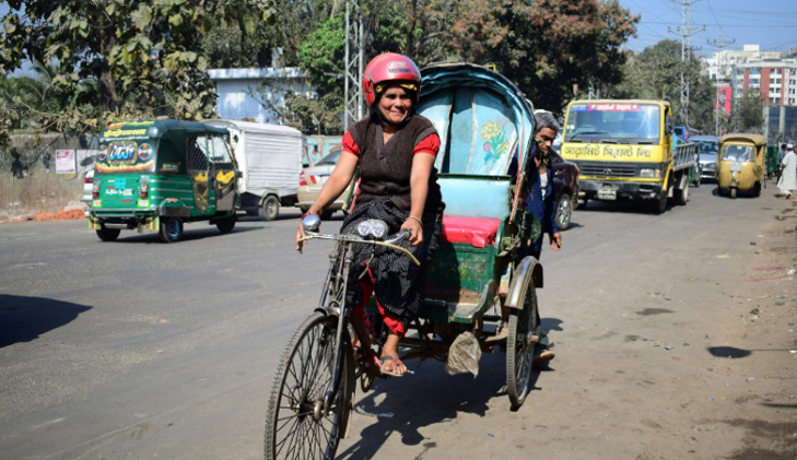 On the road with Bangladesh's female rickshaw wallah