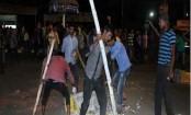 Indefinite transport strike begins in Sylhet