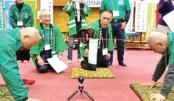 Japanese men celebrate 'baldy' pull factor