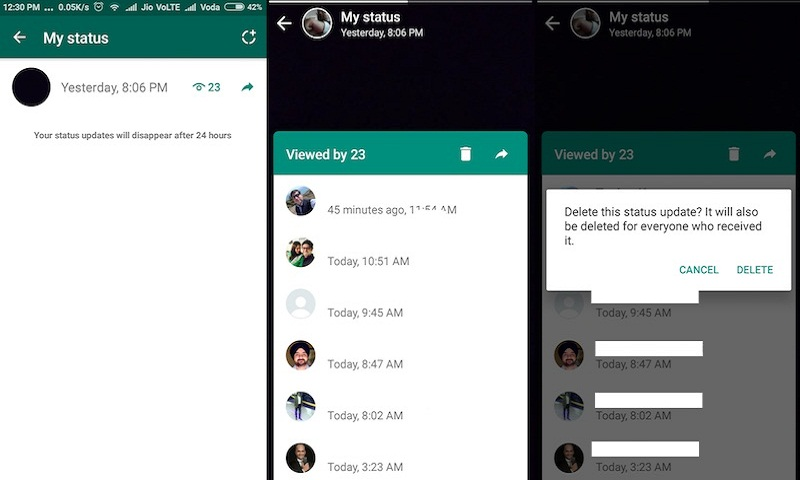 How to creat, edit, delete WhatsApp status update