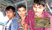 3 Mosha Bahini men held with sharp weapons