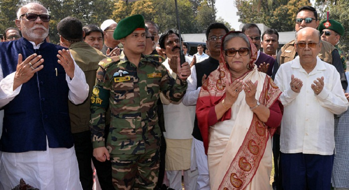 Prime Minister Hasina urges people to reelect Awami League for continued development, peace