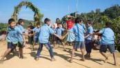 Children's plight for playground