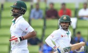 Tamim, Mominul rebuild as Bangladesh cross 100