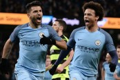 Sergio Aguero grabs a brace as Manchester City beat Huddersfield 5-1 in FA Cup replay