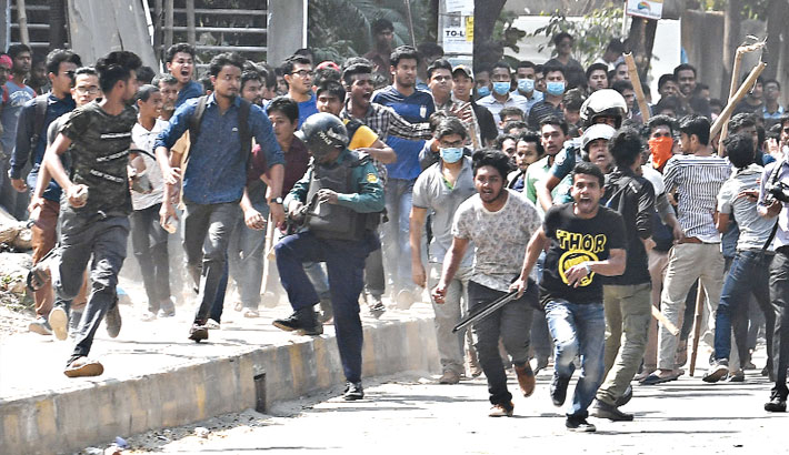 Mayhem by miscreants at Bashundhara