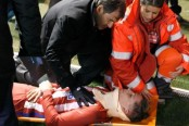 Torres 'stable & conscious' after head injury