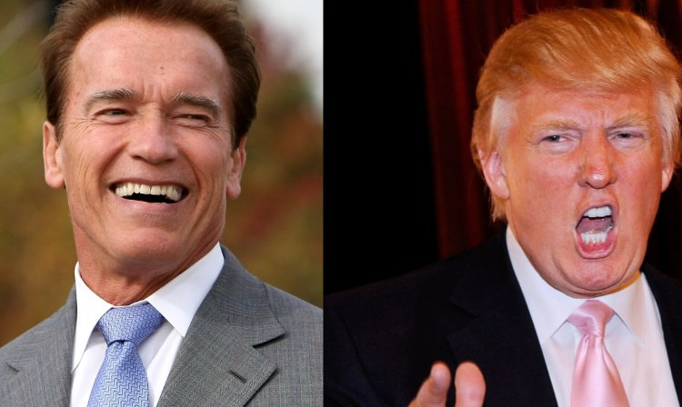 You were fired! Trump claims Arnie didn't leave Apprentice voluntarily