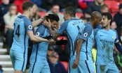 Sergio Aguero and Leroy Sane strike as Manchester City win 2-0
