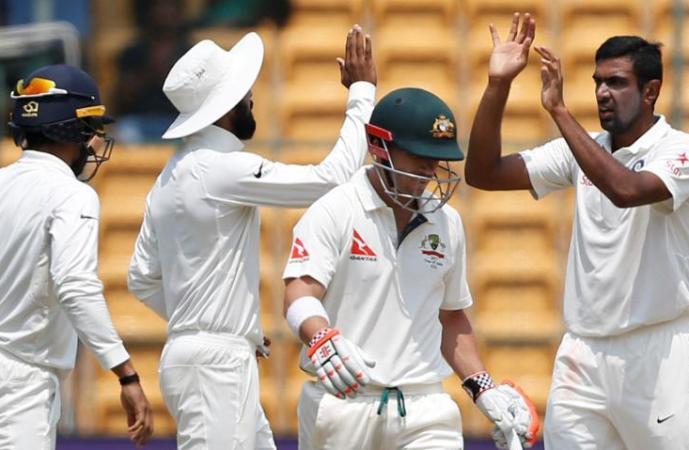 Ashwin's double strike reduces Australia to 101-6 at tea