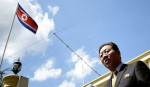 Expelled N Korea envoy fires final salvo from airport