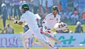 Late wickets give Sri Lanka  edge over Bangladesh