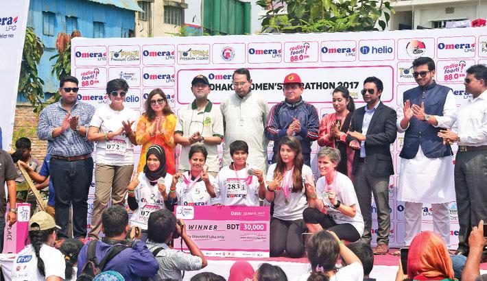 Dhaka Women's Marathon held
