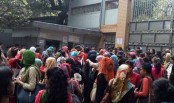 Home Economics College students stage demonstration blocking roads