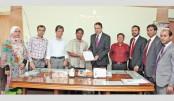 Midland Bank donates Tk 5 lakh to CU History Dept