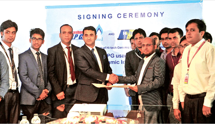 Bashundhara LP Gas signs deal with Hi-Tech Ceramic   daily