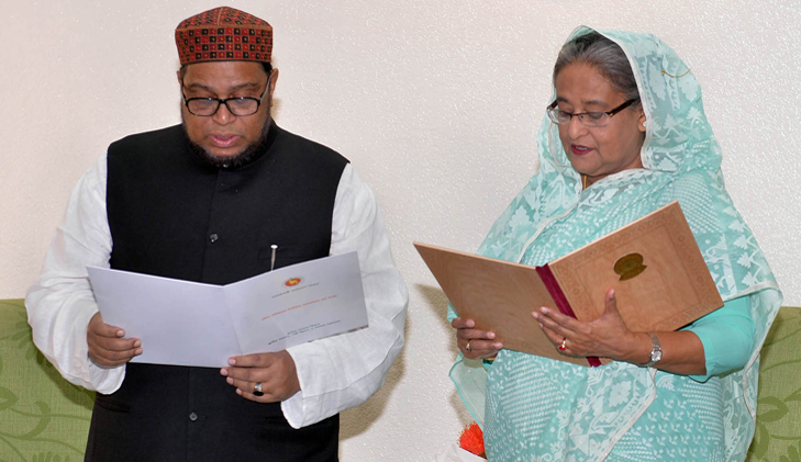 PM administers oath to Kushtia district council chairman