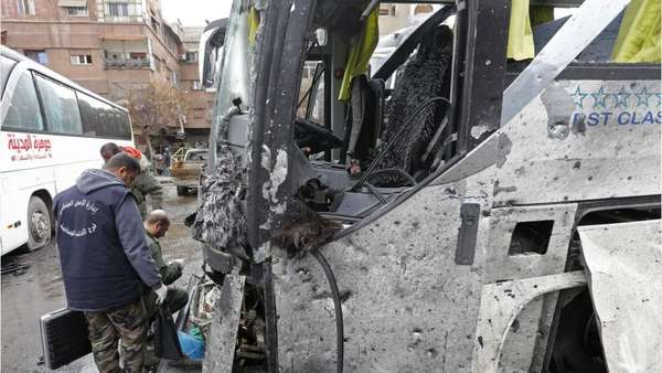 32 killed in twin suicide blast in Damascus