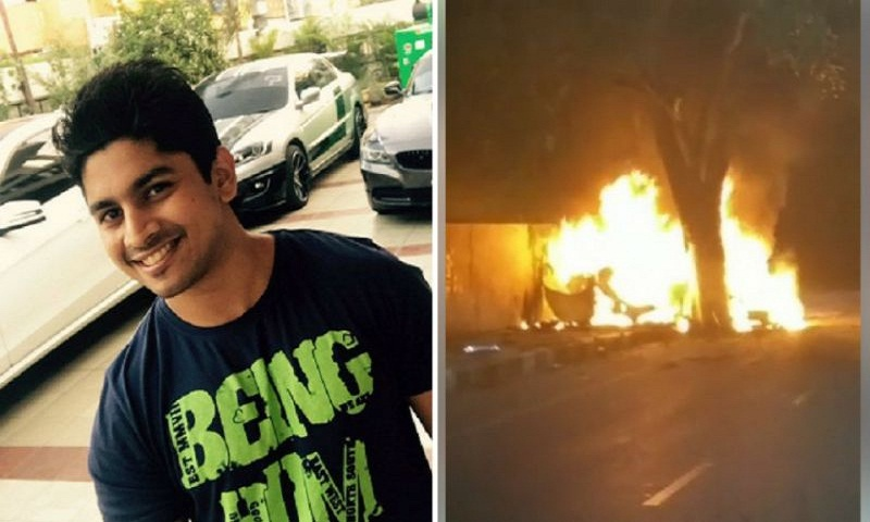 Racer Ashwin Sundar, wife charred to death after their BMW catches fire in Chennai