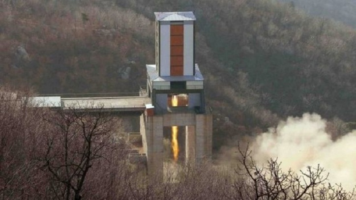 North Korea tests new rocket engine