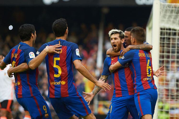 Messi at double as Barcelona beat Valencia