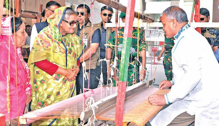 Prime Minister Sheikh Hasina visits to Krishibid Institution