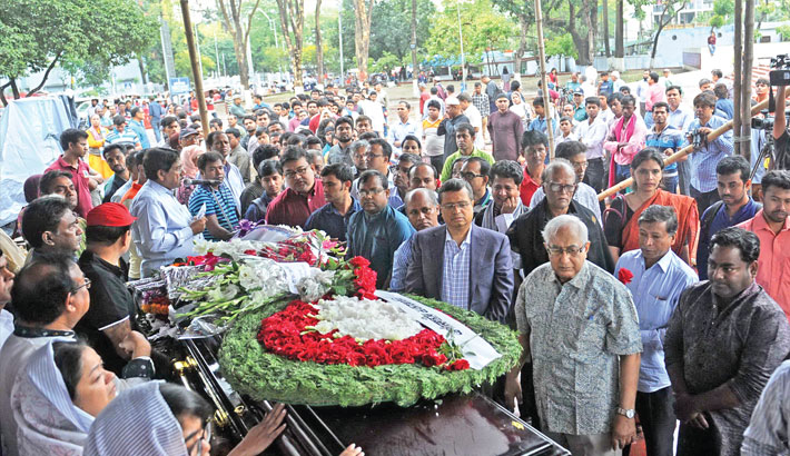 Last respects to Mohamed Mijarul Quayes