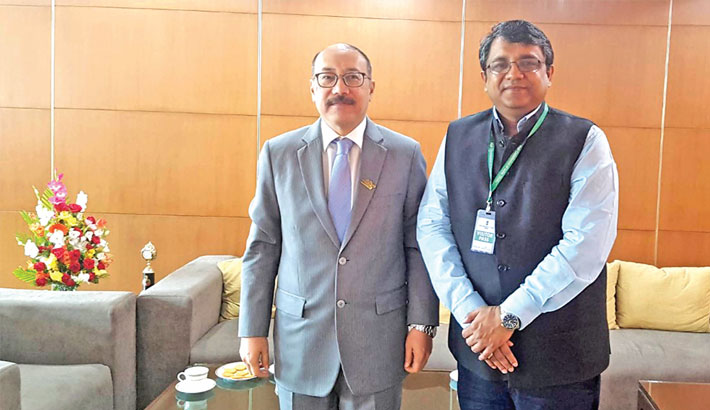 Shoeb Chy meets Indian high commissioner
