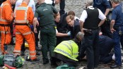 Amid Westminster chaos, MP rushes to victim's aid