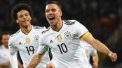 Podolski stunner helps Germany beat England