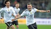 Podolski signs off in style