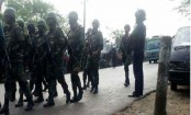 Joint forces raid at militants' flat