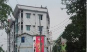 Militans staying in white colour building beside 'Atia Mahal'