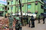 Blasts, gunshots near Sylhet militant den continues