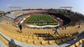 Fan dies after falling off football stadium in Brazil