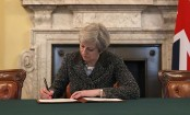British Prime Minister signs letter that will trigger Brexit