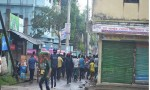 Police cordon off two suspected militans den in Moulvibazar