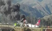 Passenger jet catches fire at Peru airport