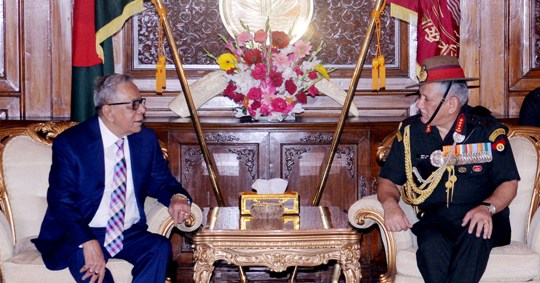 Indian army chief meets President