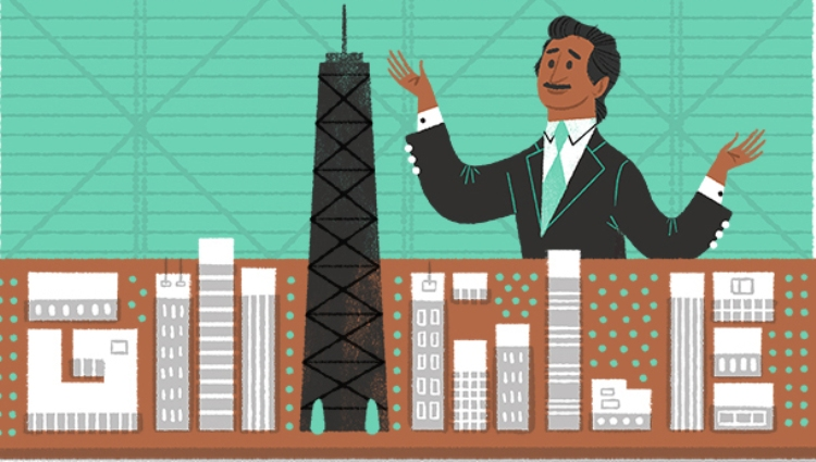 Google doodle celebrates Bangladeshi-American architect FR Khan's birthday