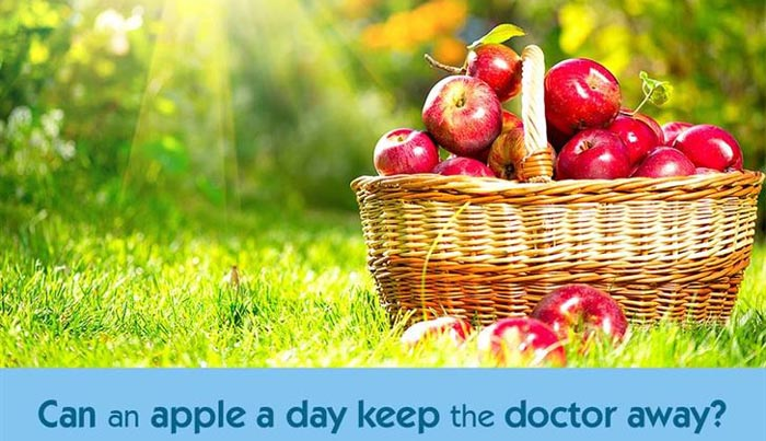 Apple most nutritious one, but doesn't keep the doctor away