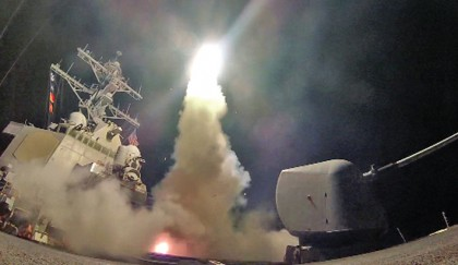US launches missile strike on Syria airbase