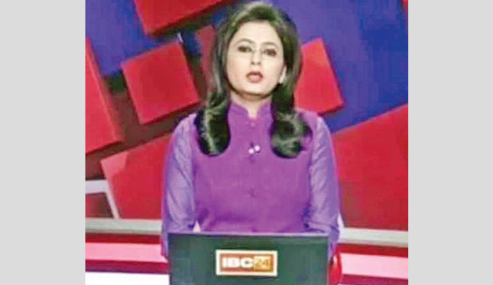 Anchor reads report  of husband's death  on TV