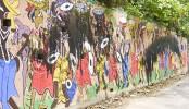 Miscreants spoil Pahela Baishakh motifs in Chittagong
