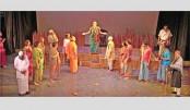 'Payer Awaj Paoa Jay' staged at Mahila Samity