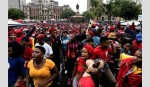 Rival S African parties unite at anti-Zuma protest