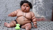 Indian baby weighs more than 17 kgs at just eight months (Video)